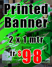 Printed Banner 2x1 meter from $98 - Jack Flash Signs