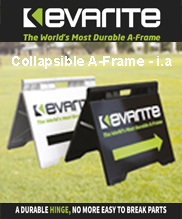 Collapsible A Frame Kevarite Jack Flash Signs
