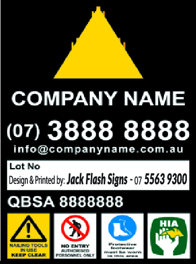 Builder Construction Signs Jack Flash Signs