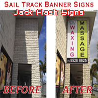 Sail Track Banner - Jack Flash Signs