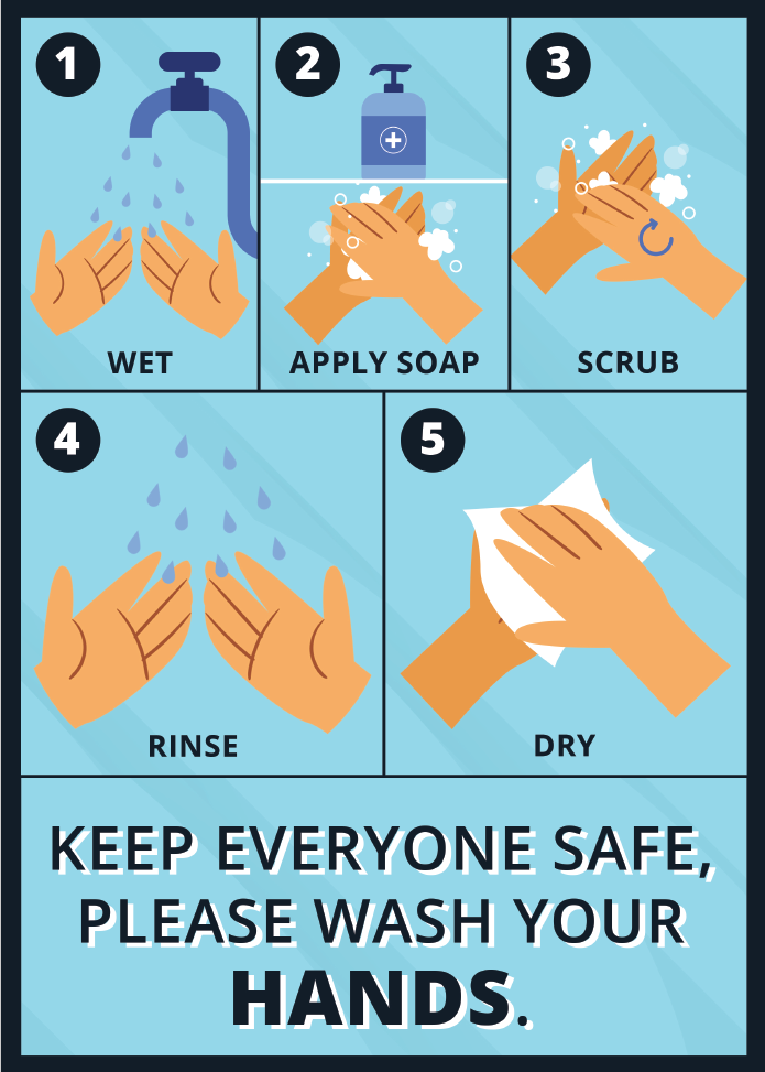 Keep Everyone safe. please wash your hands Jack Flash Signs