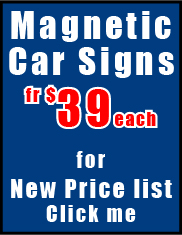 Go to Magnetic Car Signs page
