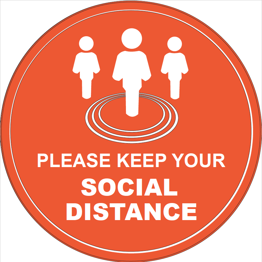 Please Keep Your Social Distance Jack Flash Signs