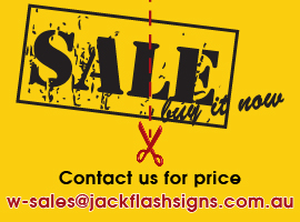 Corflute for SALE. Send email for quote: w-sales@jackflashsigns.com.au