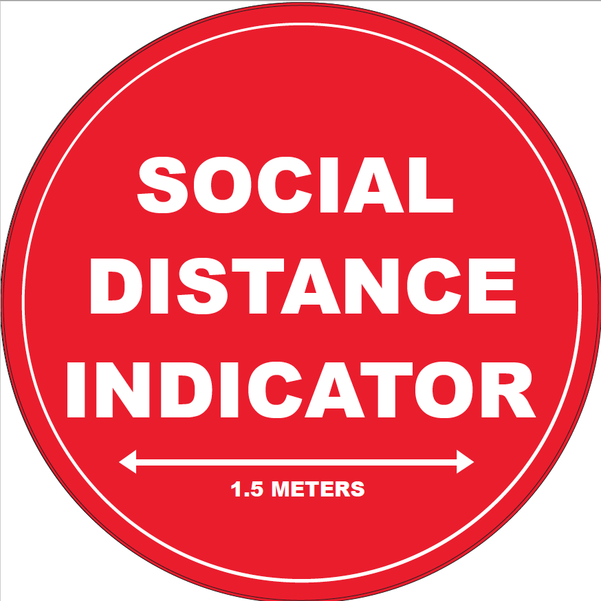 Social Distance Indicator Jack Flash Signs
