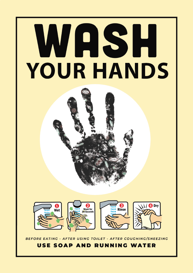 Wash Your Hand Jack Flash Signs
